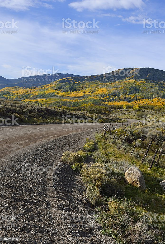 Rural road in Colorado royalty-free stock photo