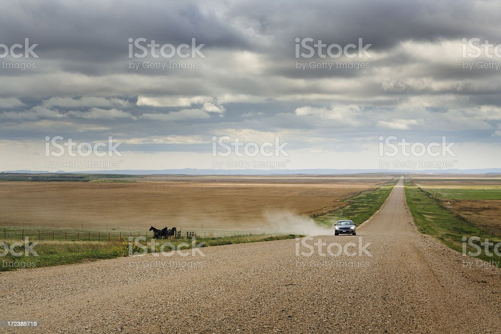 Rural Road in South Dakota stock photo
