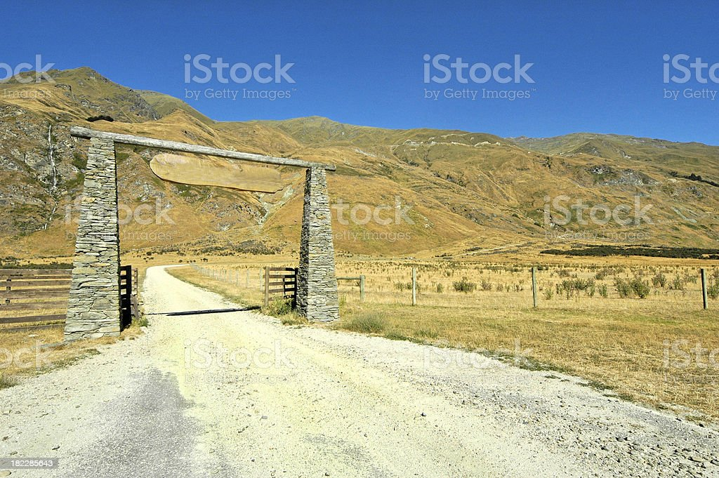 Rural Road Perspective royalty-free stock photo