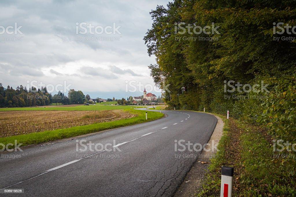 Rural road. stock photo