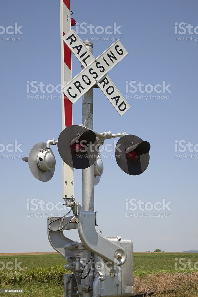 Rural RR Crossing stock photo