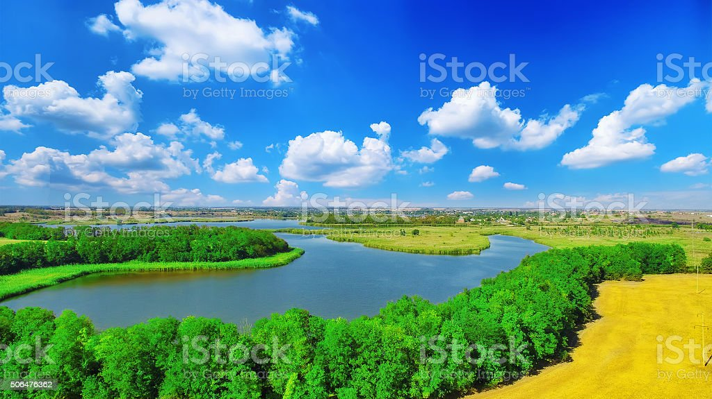 Rural, rustic landscape. stock photo
