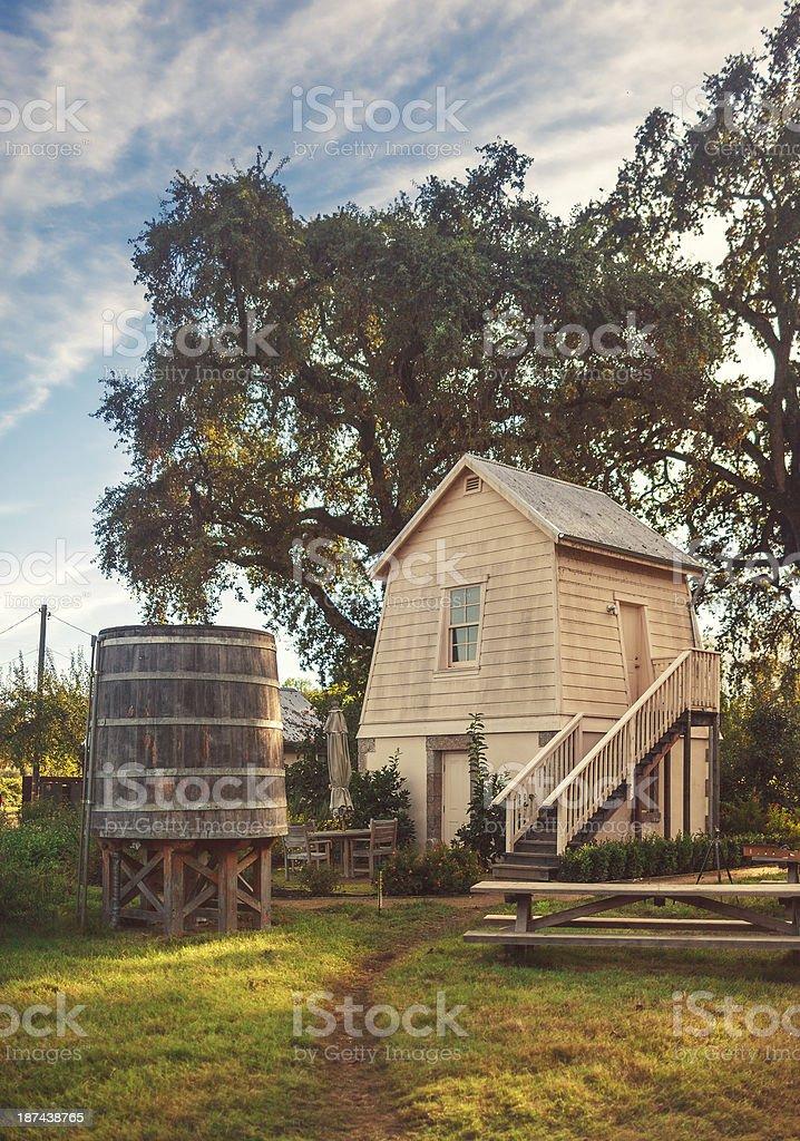 rural scene in california stock photo