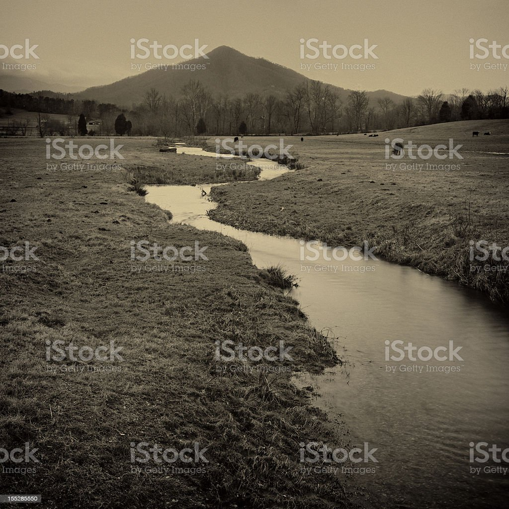 rural scene in wears valley tennessee royalty-free stock photo