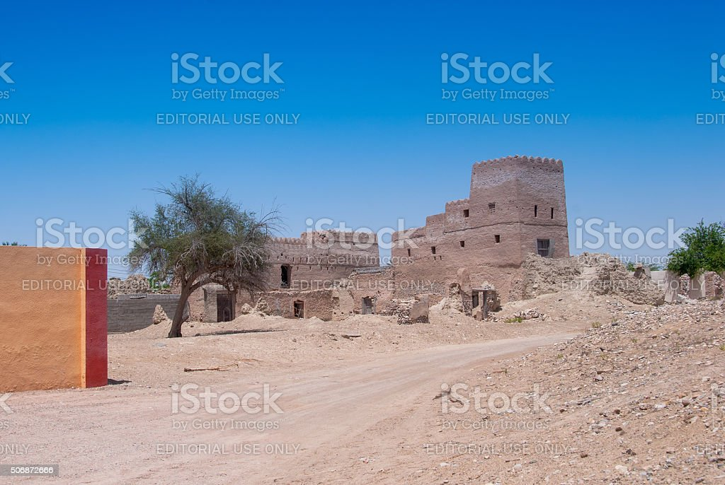 Rural Scene - Oman stock photo