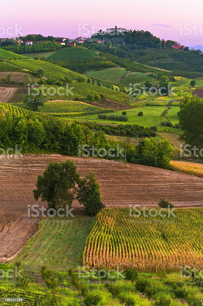 Rural scene stock photo