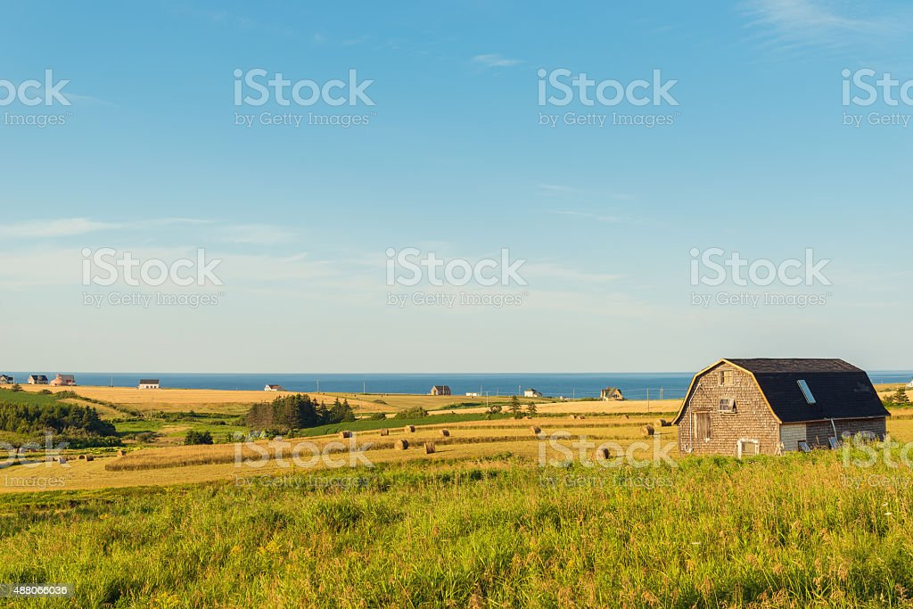 PEI rural scene stock photo