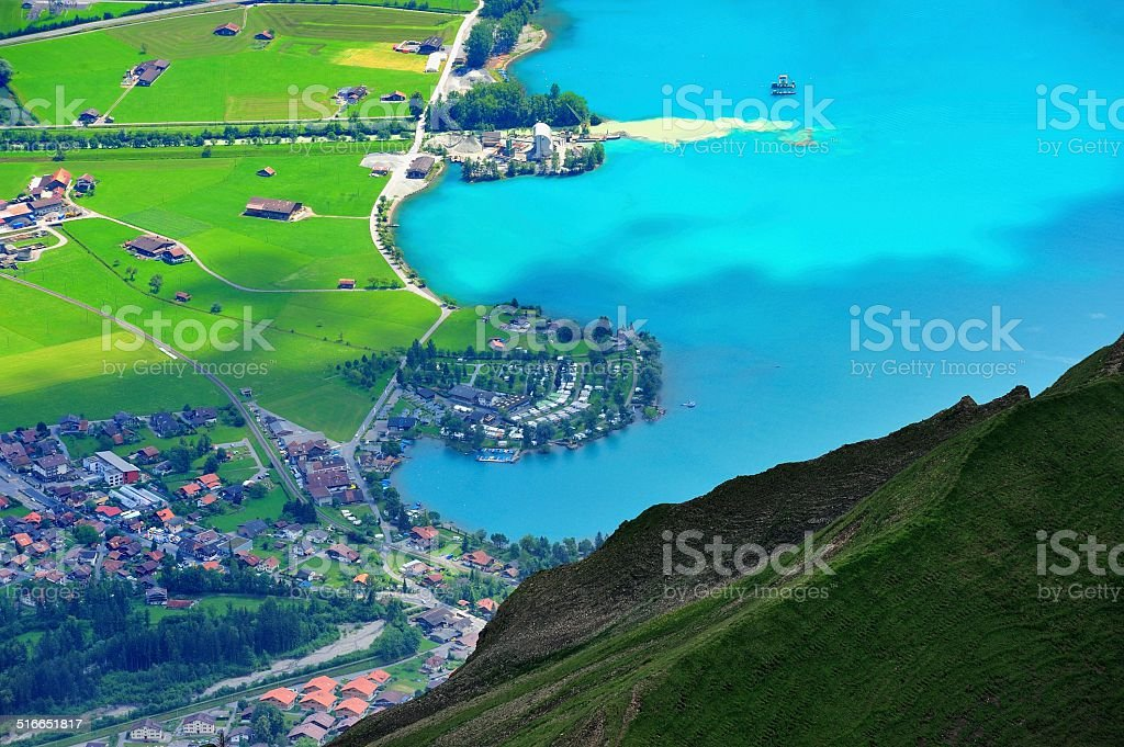 Rural scenery in Brienz(German) 01 stock photo