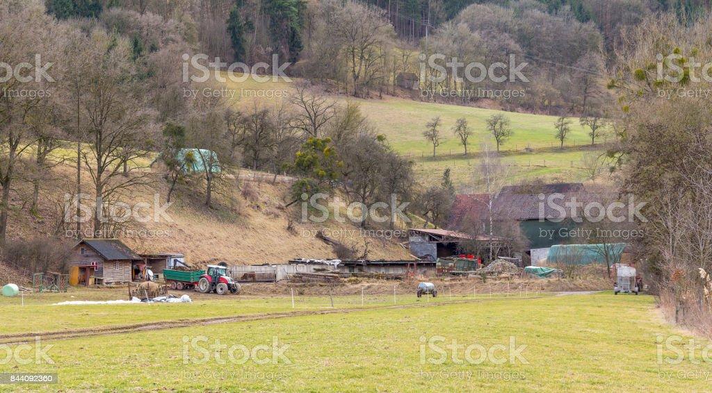 rural scenery in Hohenlohe stock photo