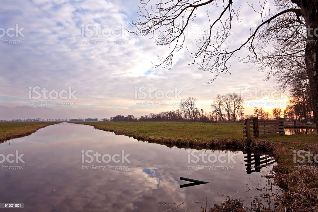 Rural scenery in the Netherlands stock photo