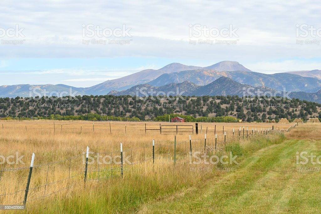 Rural scenery near Crested Butte in Colorado stock photo