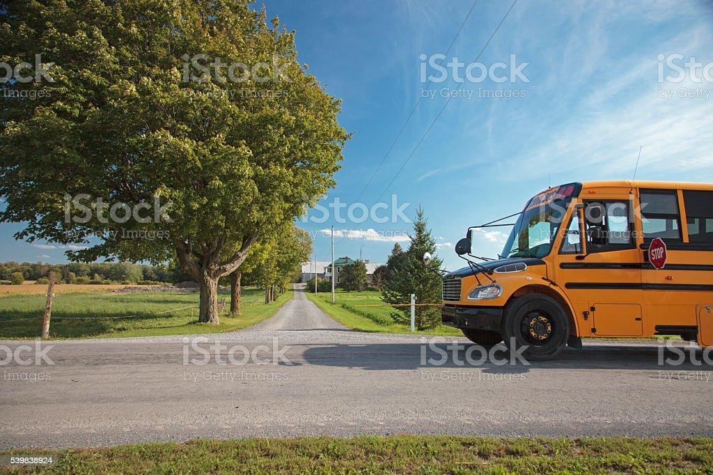 Rural School Bus stock photo