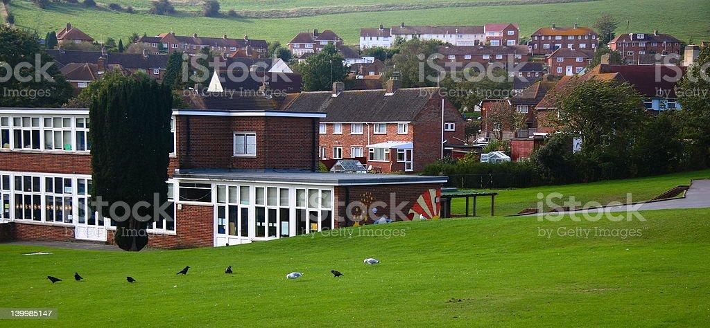 Rural School stock photo