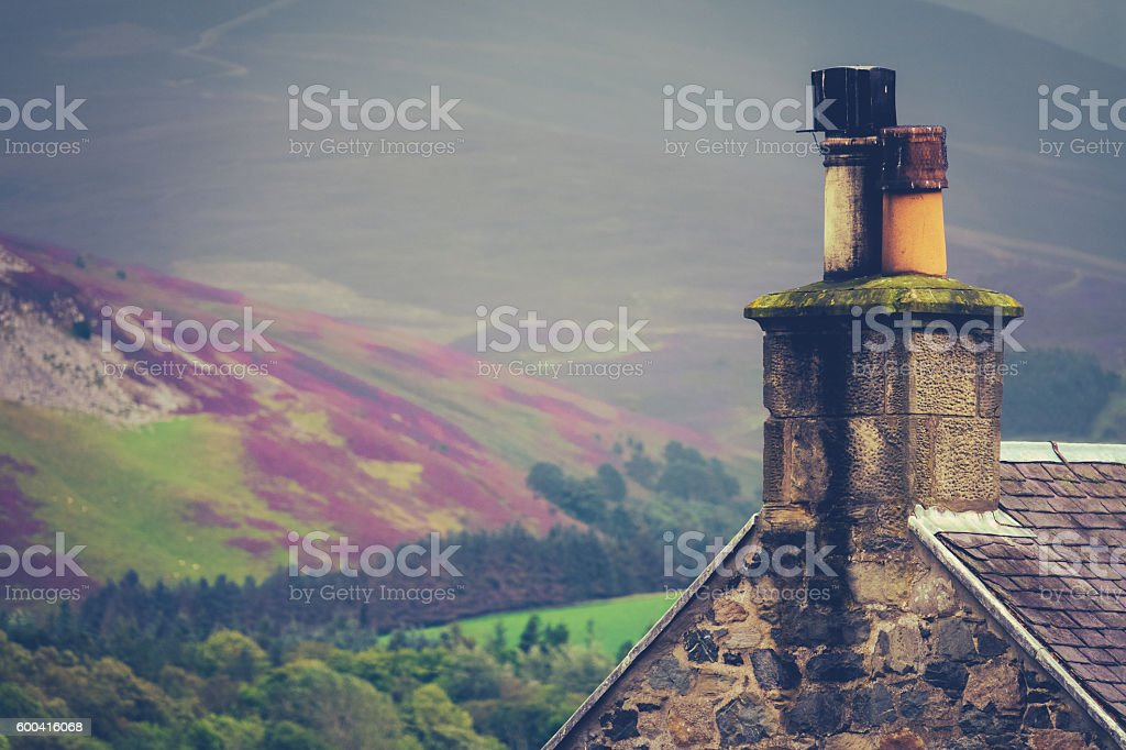 Rural Scottish Home stock photo