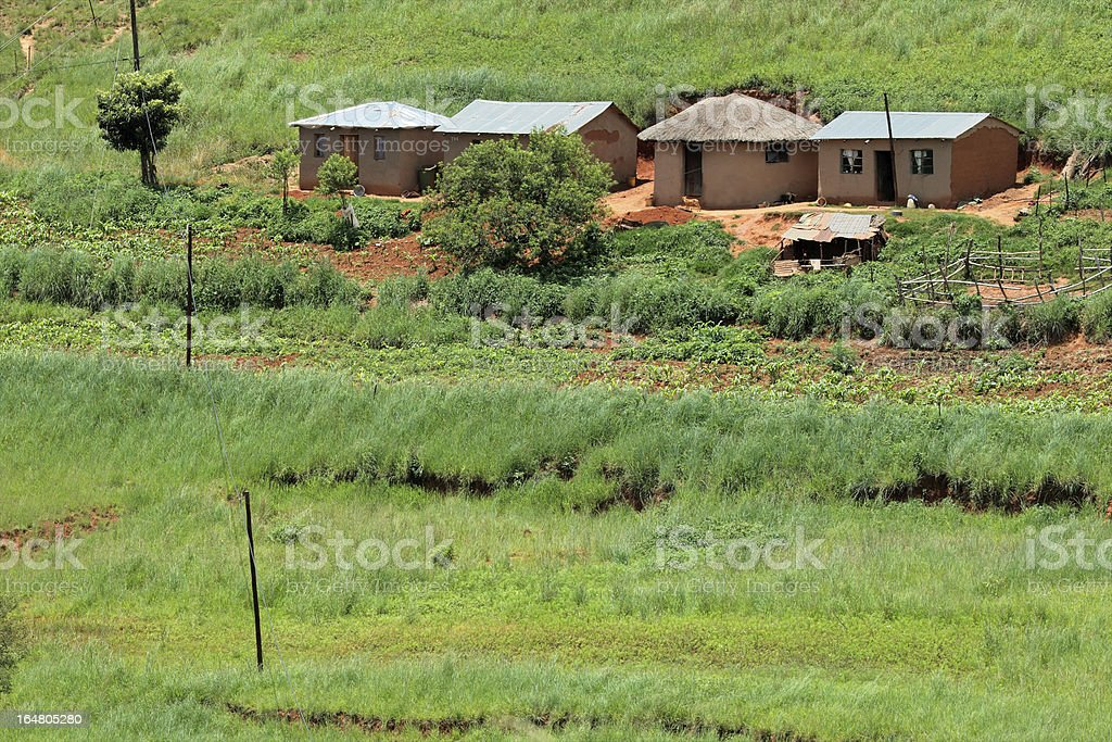 Rural settlement royalty-free stock photo
