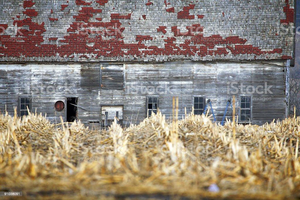 rural south dakota scenes - barn royalty-free stock photo
