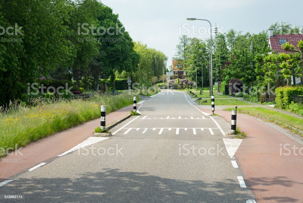 Rural speed ramp stock photo