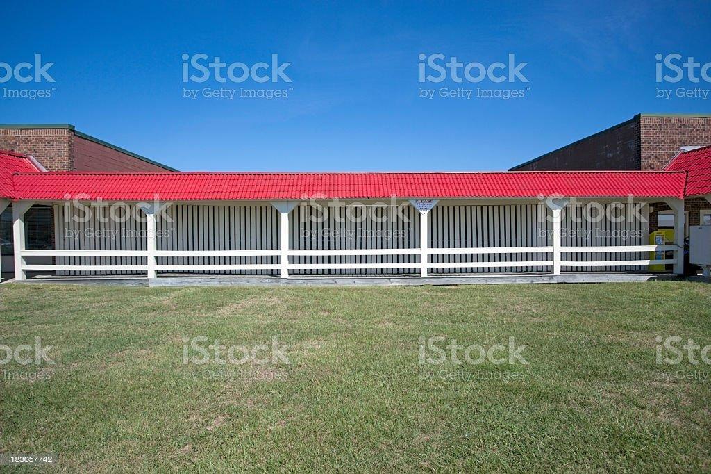 Rural Strip Mall stock photo