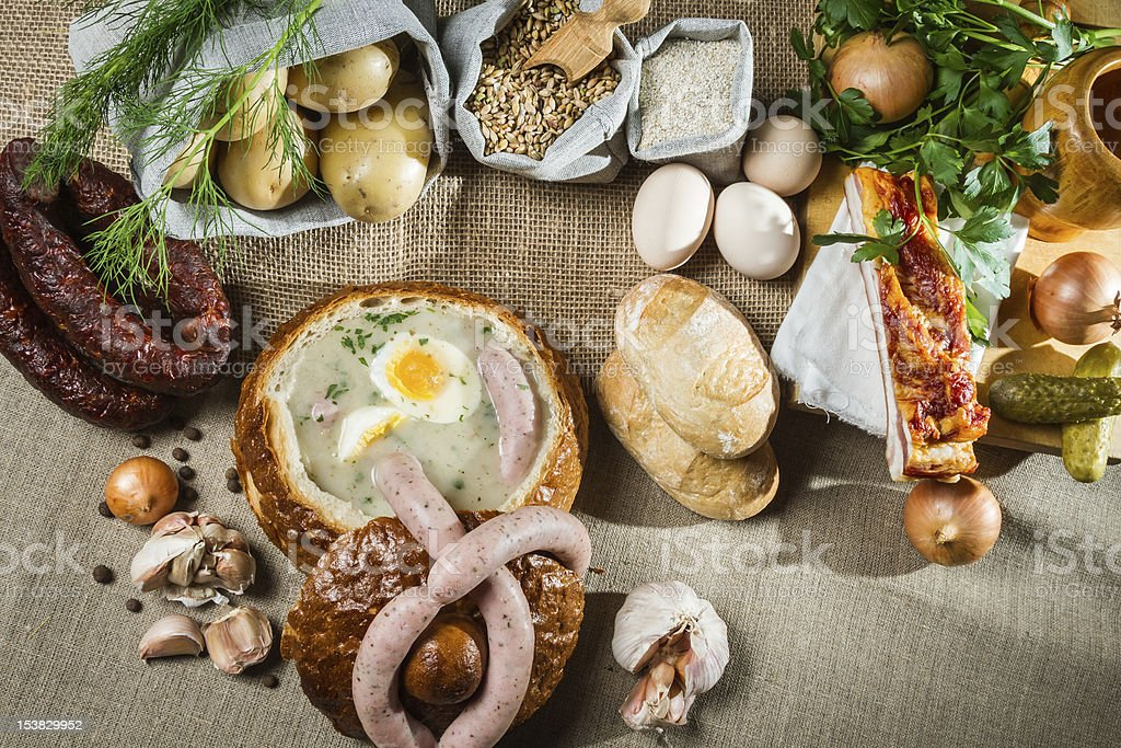 Rural sumptuous table for Easter royalty-free stock photo