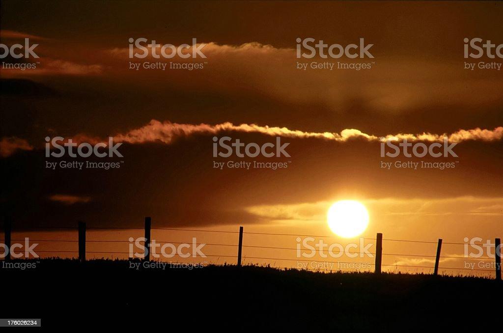 Rural Sunset royalty-free stock photo