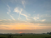 Rural sunset.