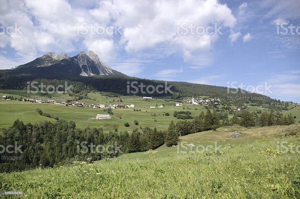 Rural swiss mountain landscape royalty-free stock photo