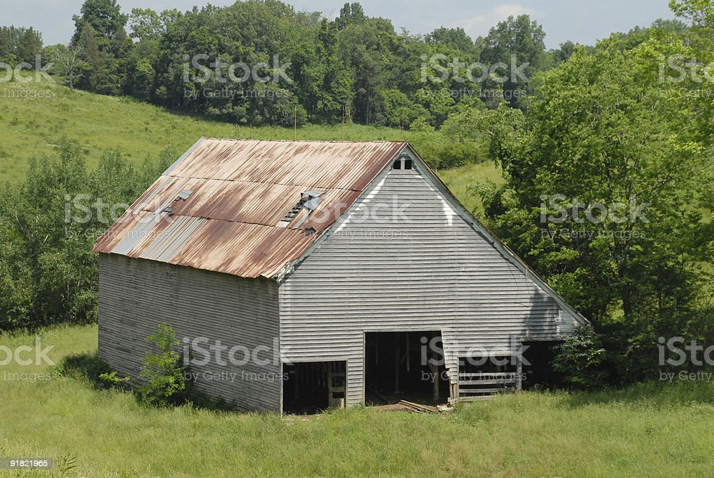 Rural Tennessee barn stock photo
