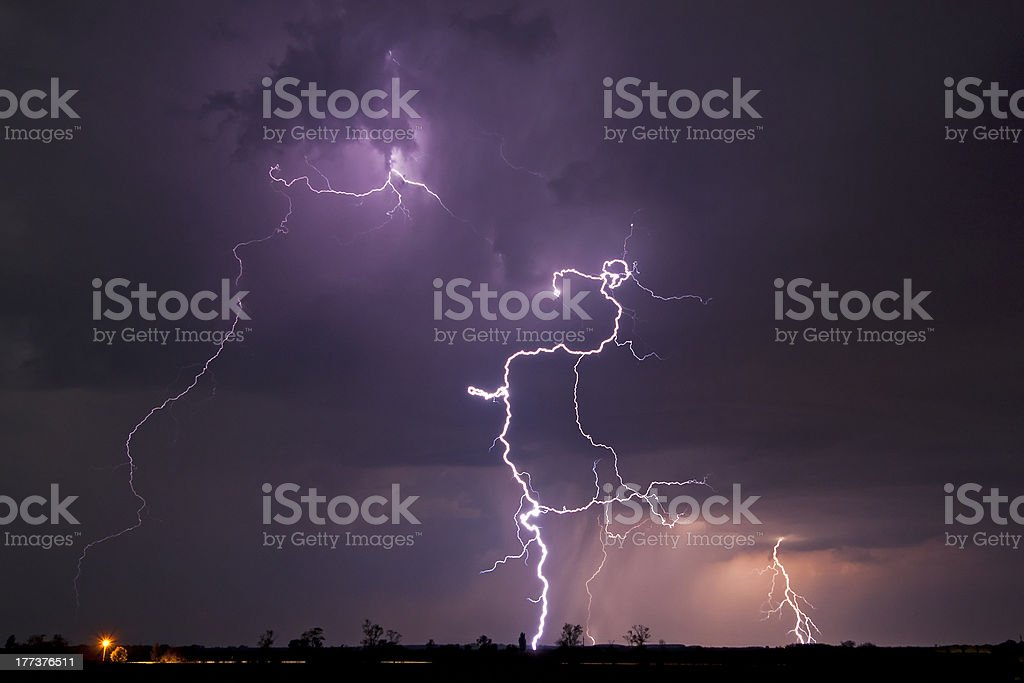 Rural Thunderstorm royalty-free stock photo