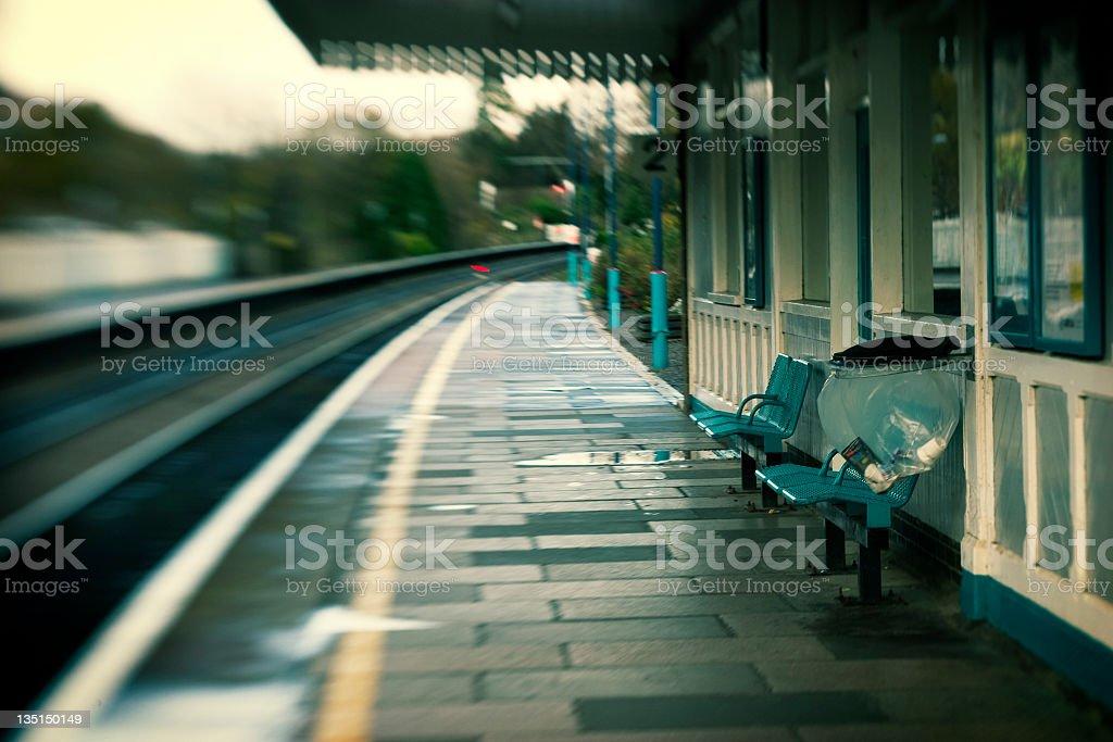 rural train station stock photo