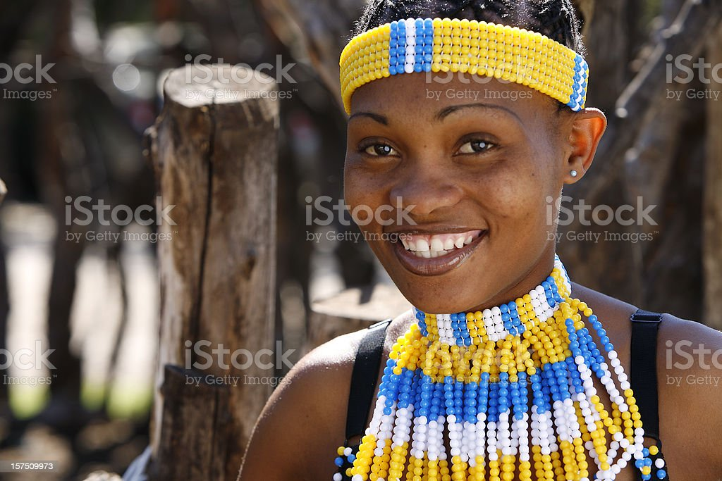 Rural tribal Zulu woman stock photo