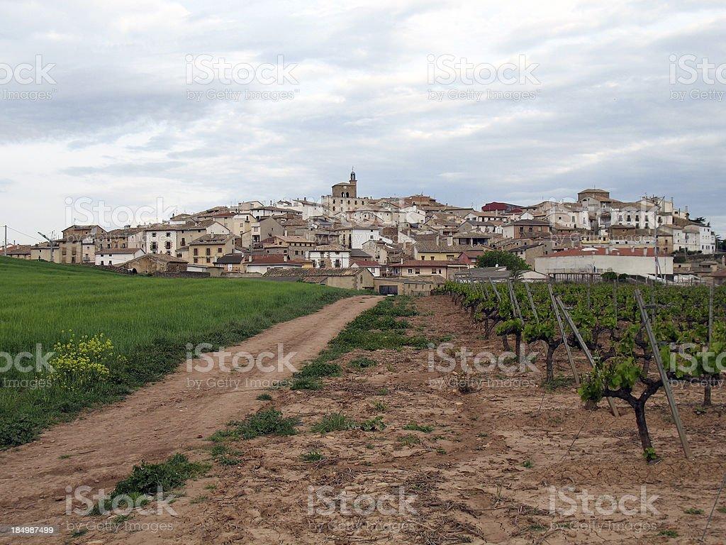 Rural Village in Spain stock photo