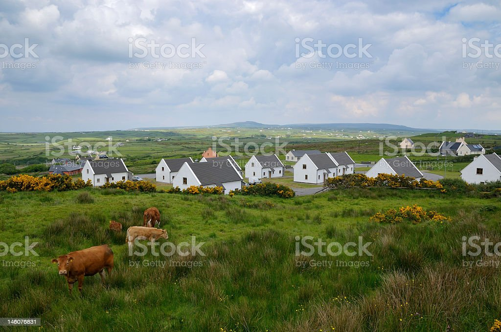 A rural village on the west coast of Ireland in Spring royalty-free stock photo