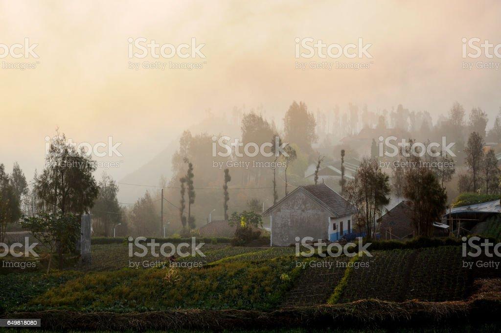 Rural village stock photo