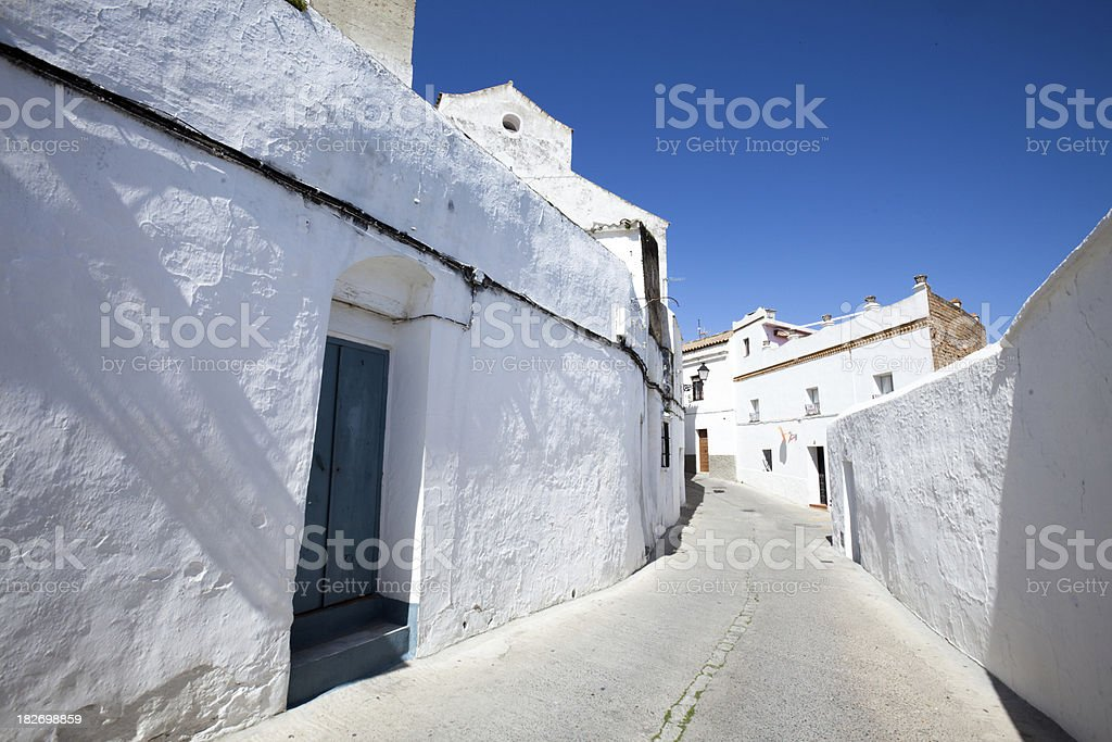 Rural Whitewashed Village in Andalucia Spain royalty-free stock photo