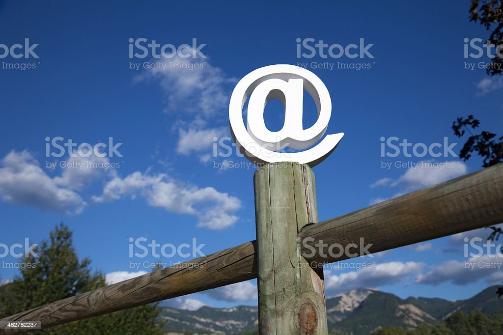 Rural wifi connection royalty-free stock photo