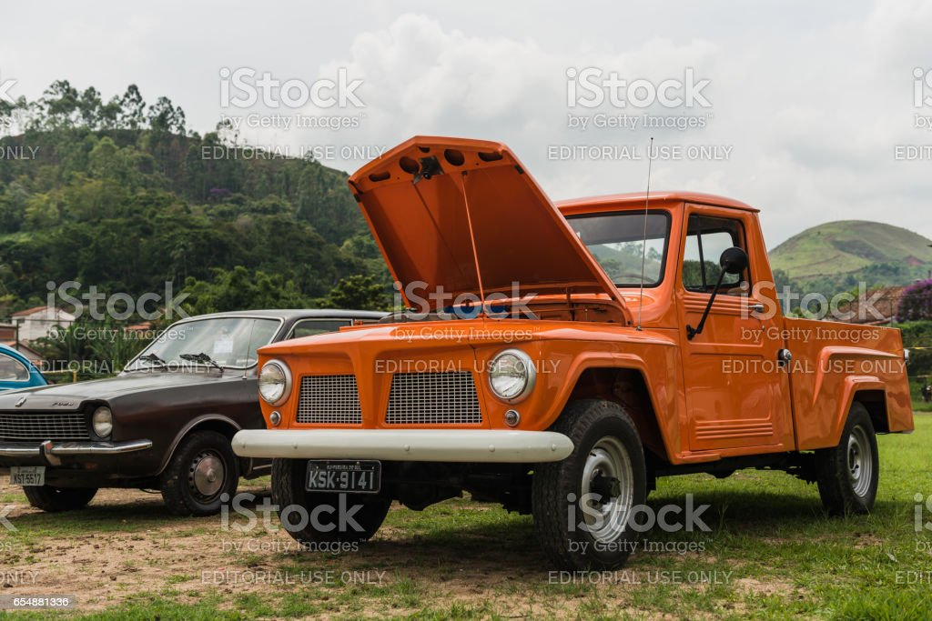 Rural Willys or Willys Jeep Station Wagon stock photo