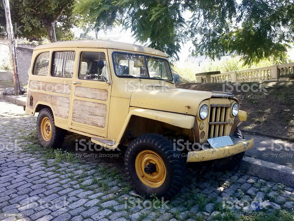 Rural Willys utility vehicle 1958, Brazil stock photo