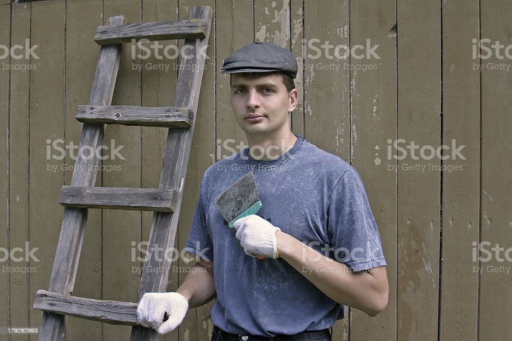 Rural worker royalty-free stock photo