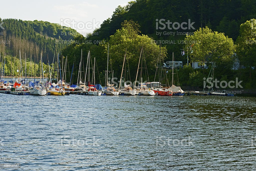 Rursee in the Eifel, Germany royalty-free stock photo