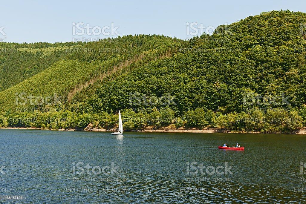 Rursee in the Eifel, Germany royalty-free stock photo