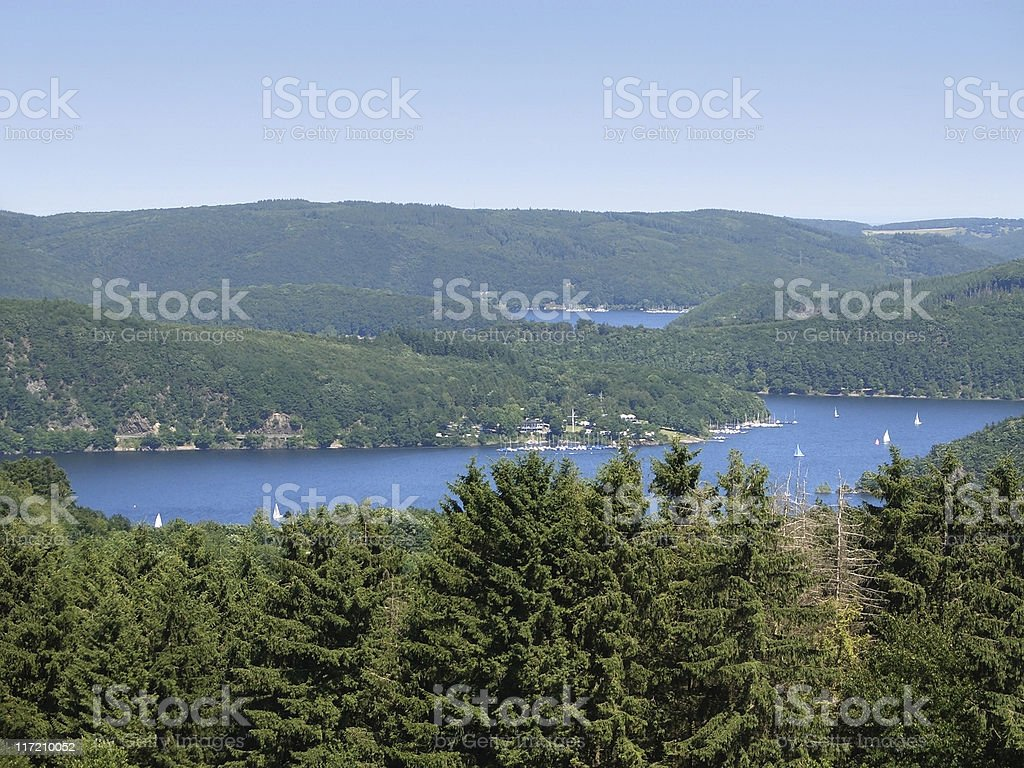 Rurtalstausee at summer time stock photo