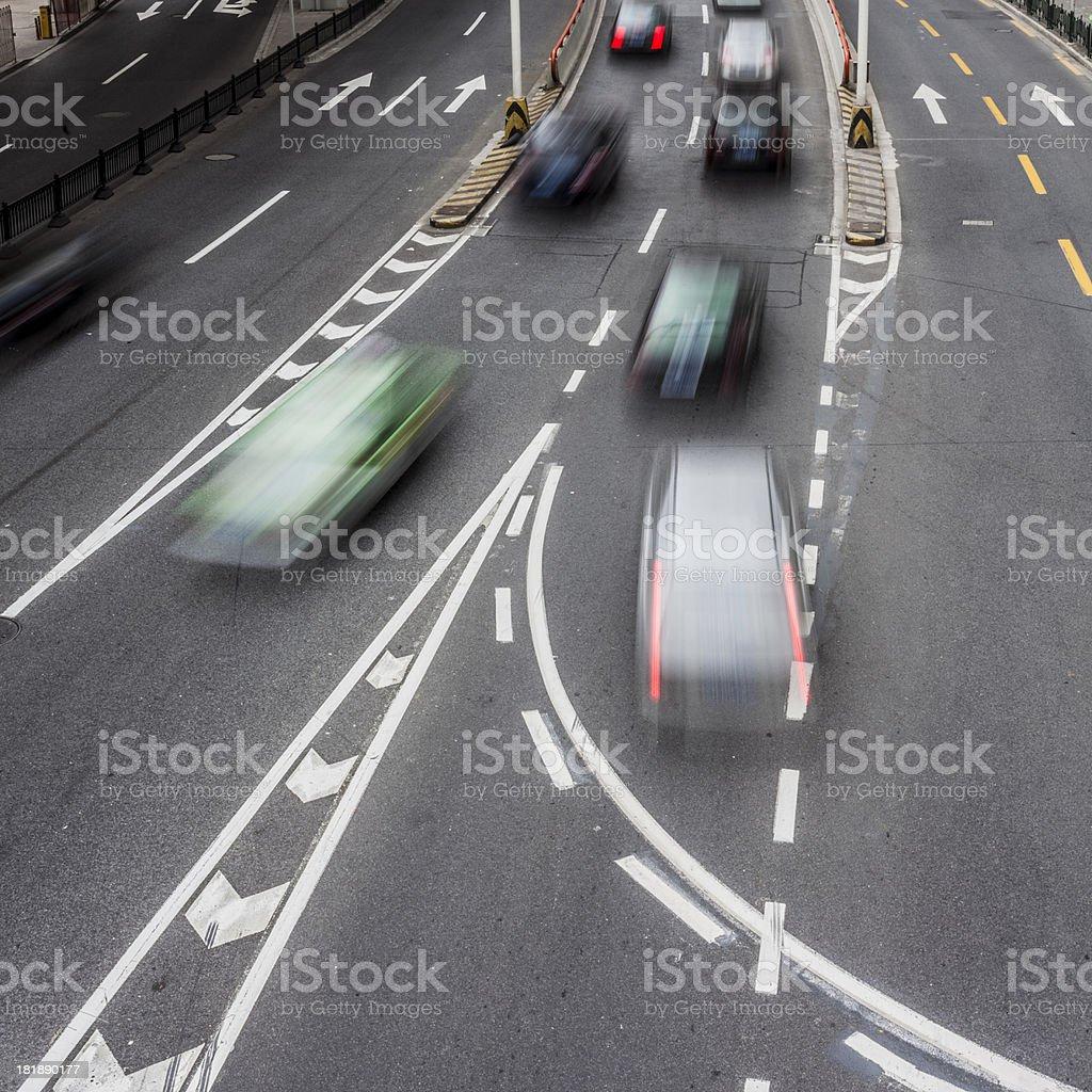 rush cars royalty-free stock photo