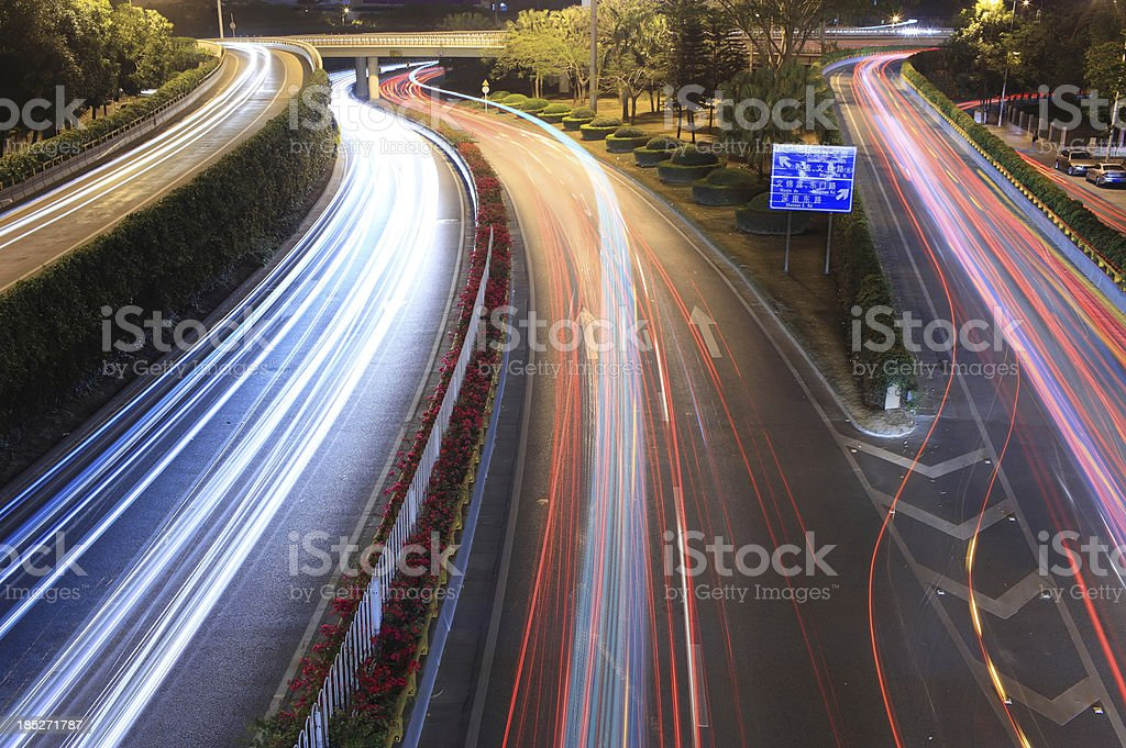 Rush Hour at Dusk royalty-free stock photo
