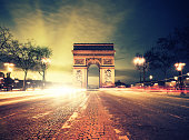 Rush hour at the Arc de Triomphe in Paris