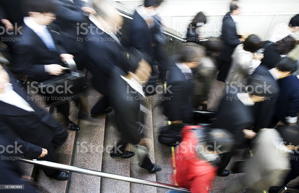 Rush Hour at Tokyo Station royalty-free stock photo