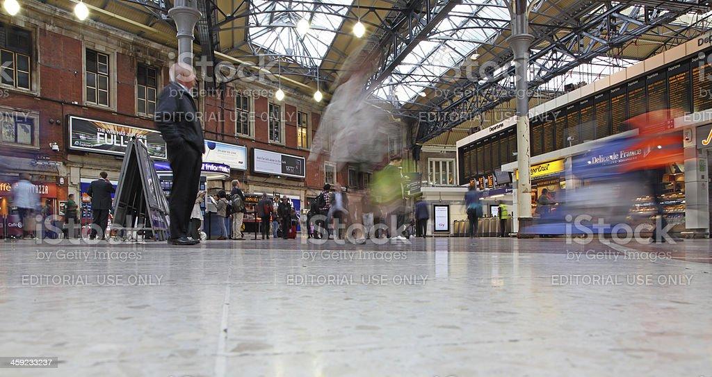 Rush hour at Victoria railway station stock photo