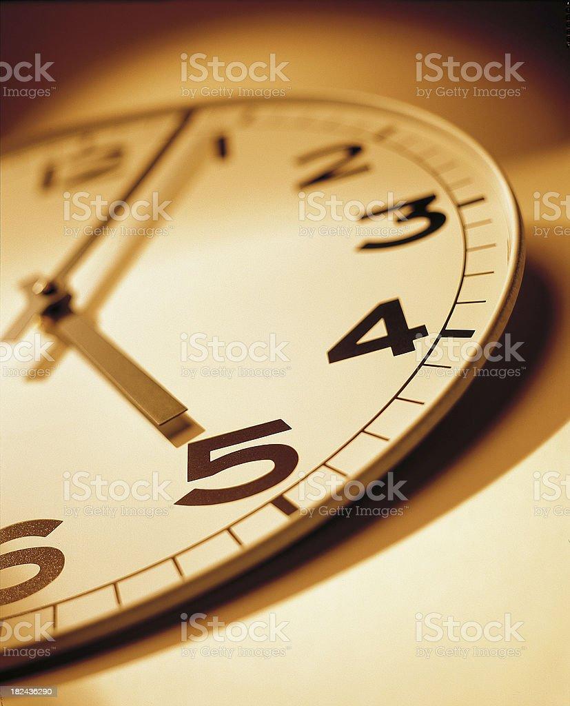 Rush Hour Clock at 5 o'clock stock photo