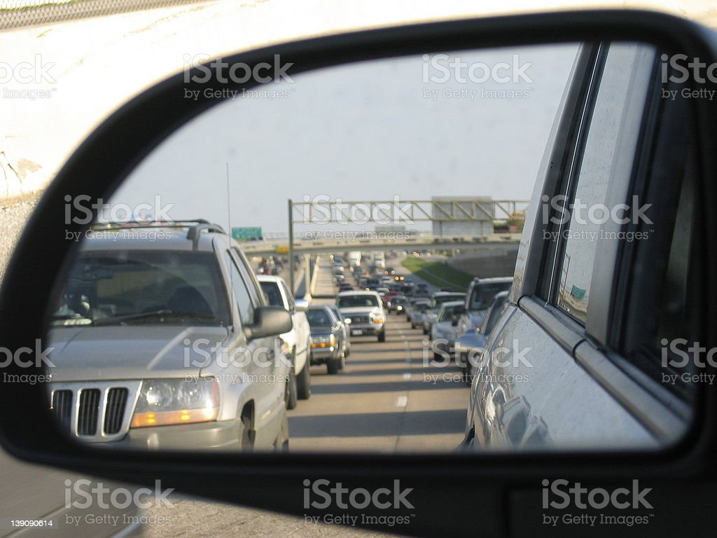 Rush Hour Commute Reflection 2 royalty-free stock photo