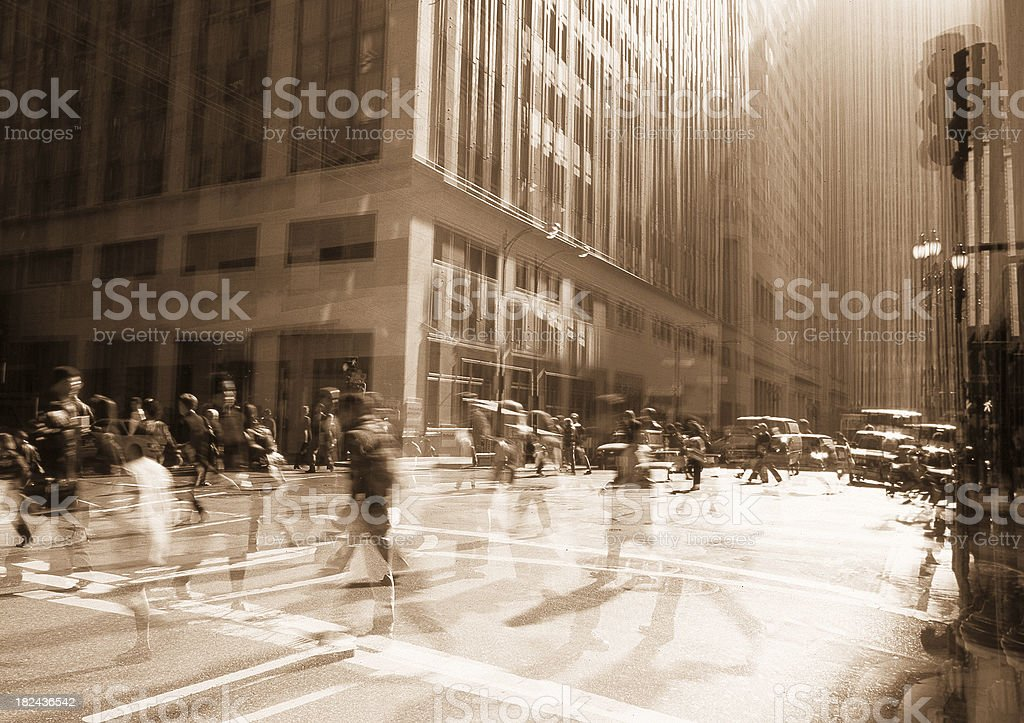 Rush Hour conceptual. royalty-free stock photo
