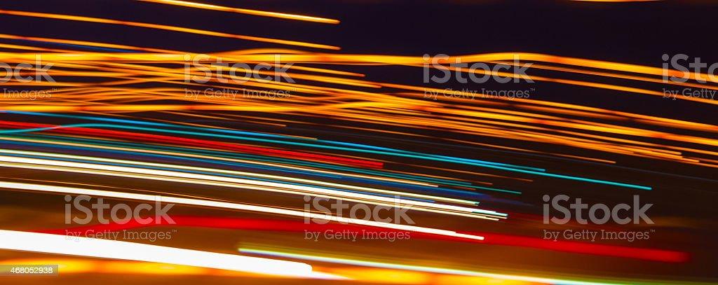Rush hour for lights stock photo